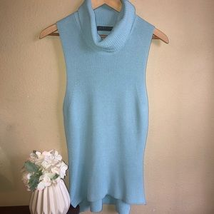 HIGHLINE collective powder blue sleeveless 🐢neck
